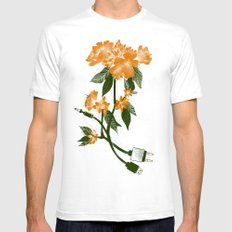 Digital Spring Mens Fitted Tee White SMALL