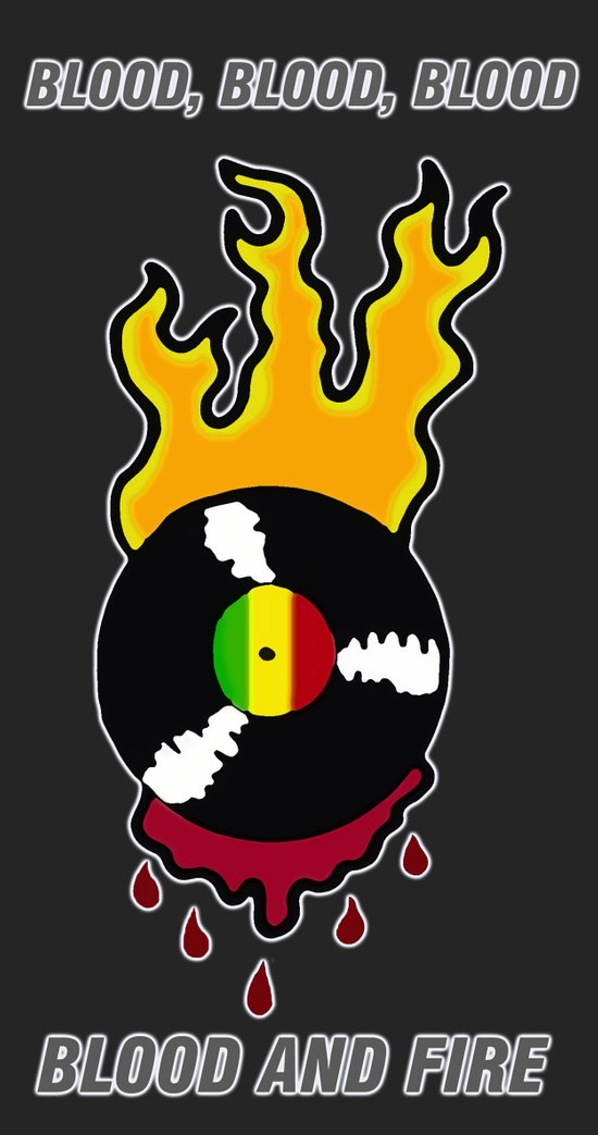 Blood and Fire Reggae Record Art Print