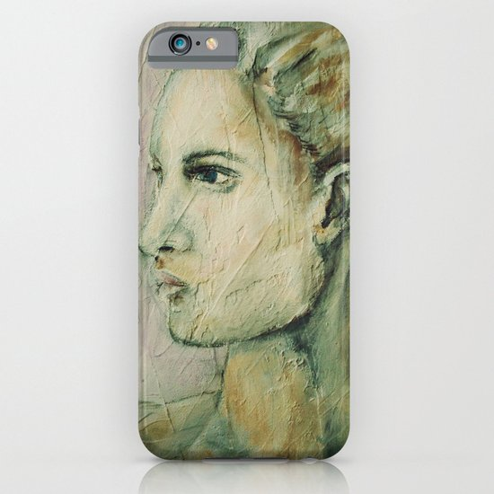 Lucy Mixed Media Portrait iPhone & iPod Case