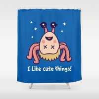 I Like Cute Things Shower Curtain