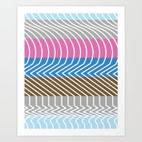 Waveforms Art Print