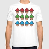 RGB Cupcakes Mens Fitted Tee White SMALL