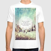Imagination Mens Fitted Tee White SMALL