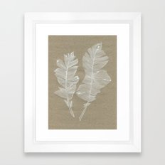 white feathers Framed Art Print