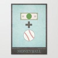 Moneyball - Minimal Post… Canvas Print