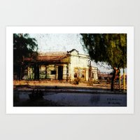 Train Station Color Art Print