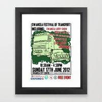 SWANSEA FESTIVAL OF TRANSPORT Framed Art Print