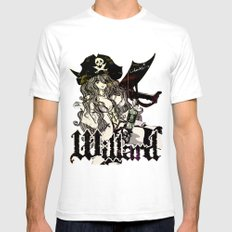WILLARD THE WENCH Mens Fitted Tee White SMALL
