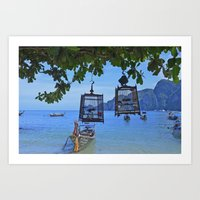 Bird Cages By The Sea Art Print