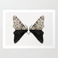 Peppered Moth Art Print