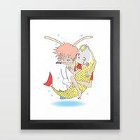 安寧 HELLO - FISHING E… Framed Art Print