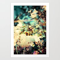 flowers & Ice. Art Print