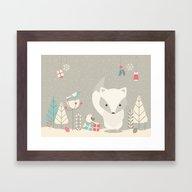 Christmas Baby Fox 04 Framed Art Print