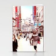 Street In Shibuya Stationery Cards