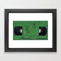 VHS HEARTS Framed Art Print