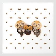 Rad's Owlets Art Print