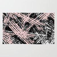 Desert Tracks Pink Rug