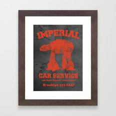 Imperial Car Service (Safety Orange) Framed Art Print