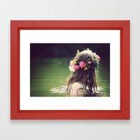 Flower Crown Framed Art Print