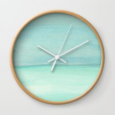 Turquoise and Teal Color block Wall Clock