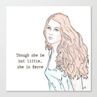 Though She Be But Little… Canvas Print