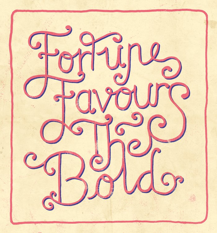 essay on fortune favors the bold