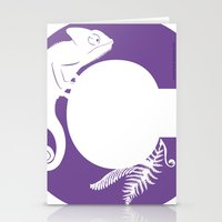C is for Chameleon - Animal Alphabet Series Stationery Cards