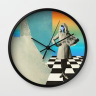 Wall Clock featuring Neptunia Colors by Mariano Peccinetti A…