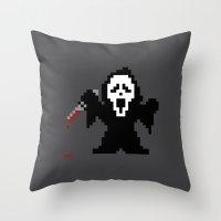 Scream Pixels Throw Pillow