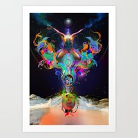 Fractalised Duality Art Print