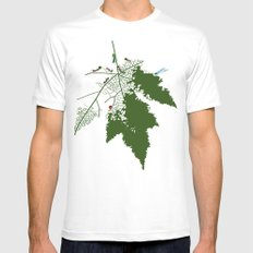 Leaf SMALL White Mens Fitted Tee