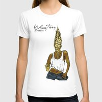 Wheatney Houston Womens Fitted Tee White SMALL