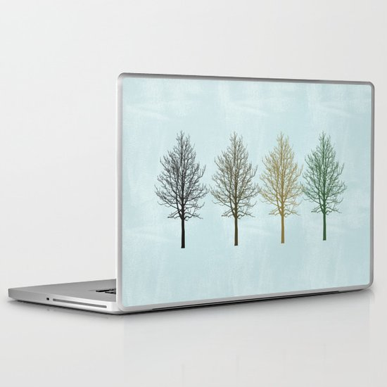 Four Colors Trees Laptop & iPad Skin