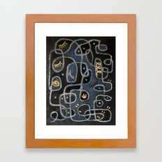Maze With Winking Eyes Framed Art Print