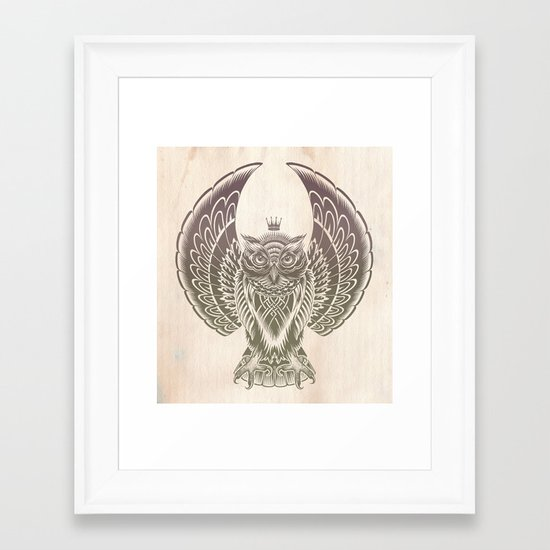 Silent Flight (Owl Wings) Framed Art Print