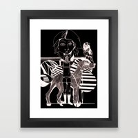 The Girl, Her Dog And A … Framed Art Print