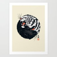 Taichi Tiger Art Print
