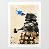 Doctor Who Dalek Rustic Art Print