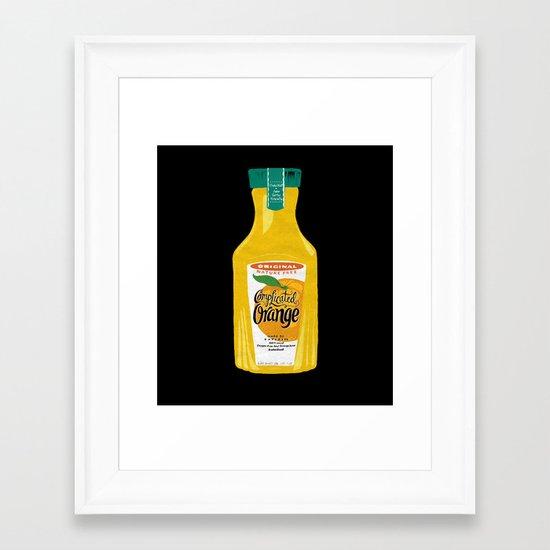 Complicated Orange Framed Art Print