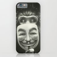 monkey iPhone & iPod Cases featuring Anonymous by Dr. Lukas Brezak
