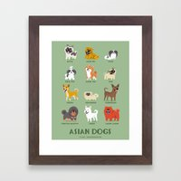 ASIAN DOGS Framed Art Print