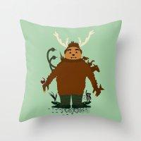 Hello Herman  Throw Pillow