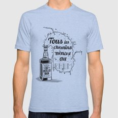 Tous les chemins... Mens Fitted Tee Athletic Blue SMALL