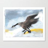 Canada Goose Landing...d… Canvas Print