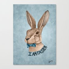 Mr Hare Is Faster Canvas Print