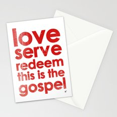 LOVE, SERVE, REDEEM. THIS IS THE GOSPEL (James 1:27) Stationery Cards