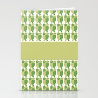 GREEN/LEMON BIRDS Stationery Cards