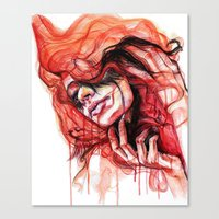 Metamorphosis-cardinal bird Canvas Print