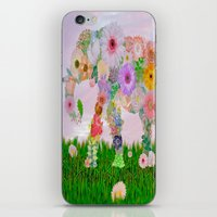 Elephant In My Garden iPhone & iPod Skin