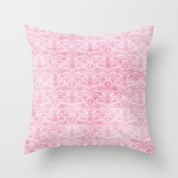 Shabby Damask Throw Pillow